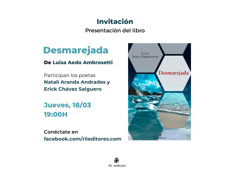Invitación 18/03: Lanzamiento del libro «Desmarejada», de Luisa Aedo 5