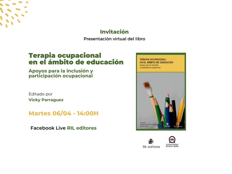 Invitación 06/04: Lanzamiento del libro «Terapia ocupacional en el ámbito de educación» 1