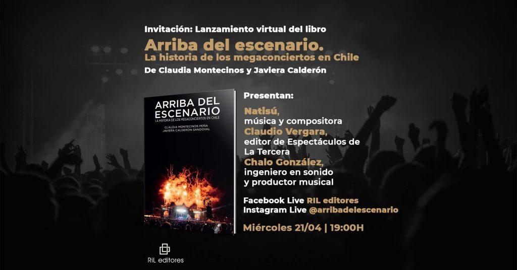«Arriba del escenario»: El libro que narra la evolución de los megaconciertos en Chile 1