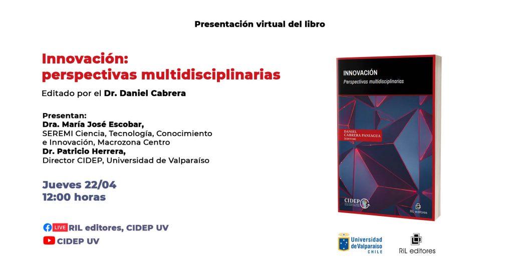 Invitación 22/04: Lanzamiento del libro «Innovación: perspectivas multidisciplinarias» 1