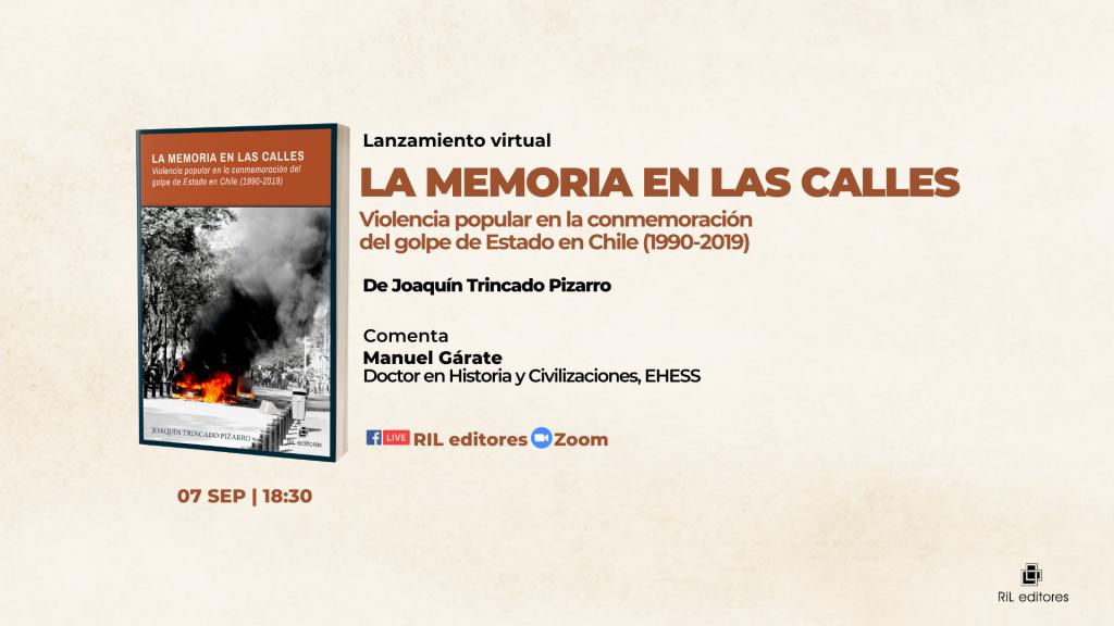 Invitación 07/09: lanzamiento del libro «La memoria en las calles», de Joaquín Trincado 1