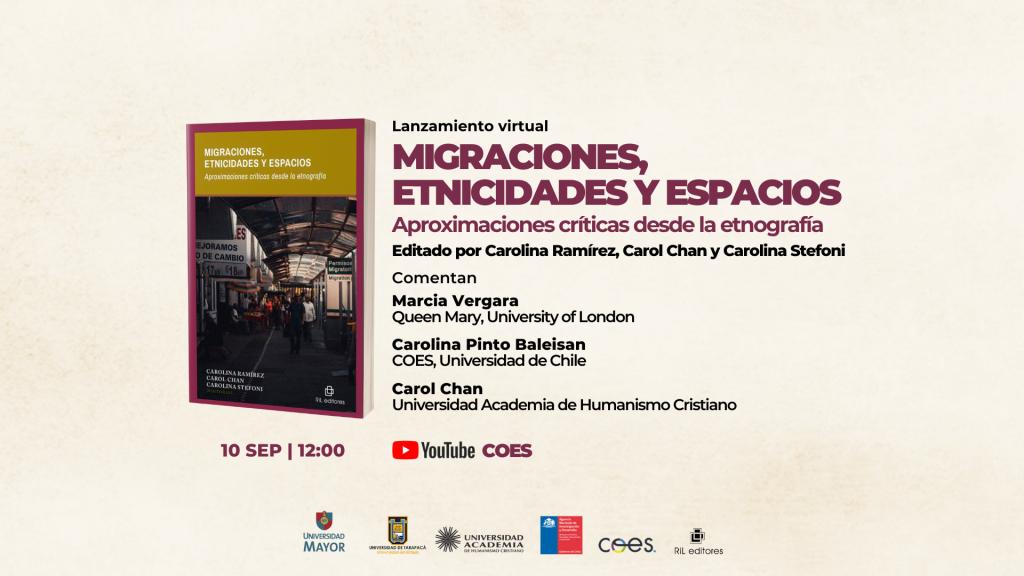 Invitación 10/09: Lanzamiento del libro «Migraciones, etnicidades y espacios» 1